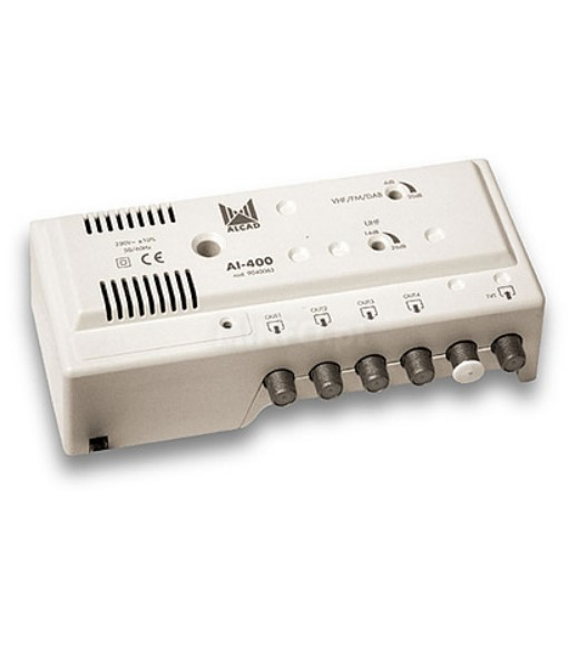 Amplificador de interior antena tdt 4 sa das alcad ai400 - Amplificador de antena ...